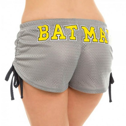 Batman Booty Shorts - Sexy Grey Dc Comics Women's Batman Booty Shorts