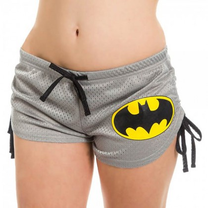 Batman Booty Shorts - Sexy Grey Dc Comics Batman Booty Shorts For Women