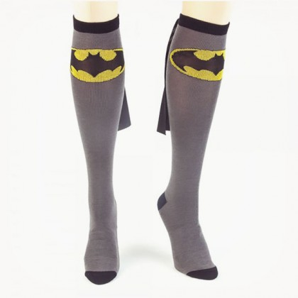 Batman Cape Socks - Grey DC Comics Women's Batman Socks With Cape