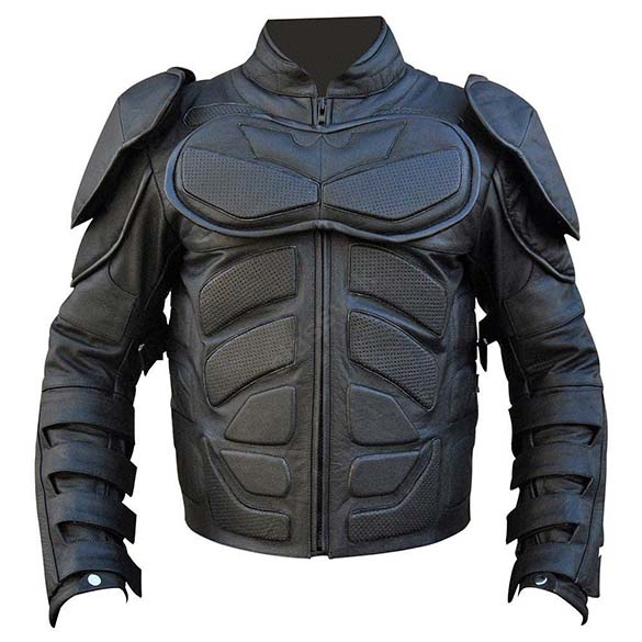 Batman Leather Jacket - Black The Dark Knight Leather Motorcycle Jacket