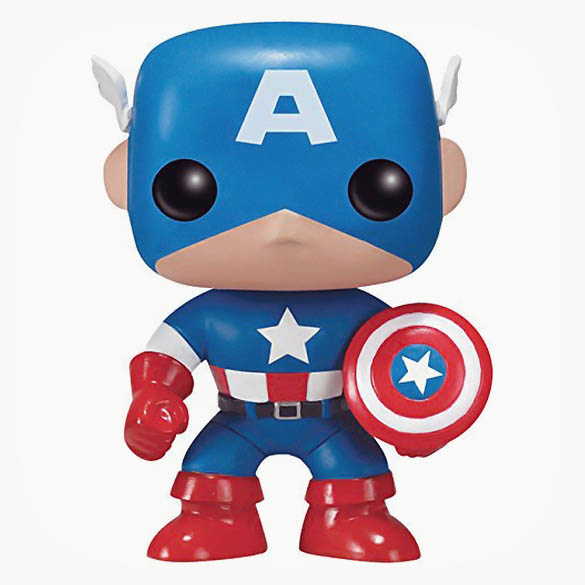 Captain America Pop! - Marvel Captain America Collectible Bobblehead Figure