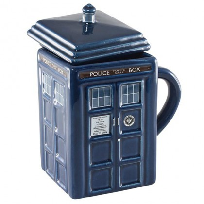Dr Who TARDIS Mug - Doctor Who TARDIS shaped Coffee Mug