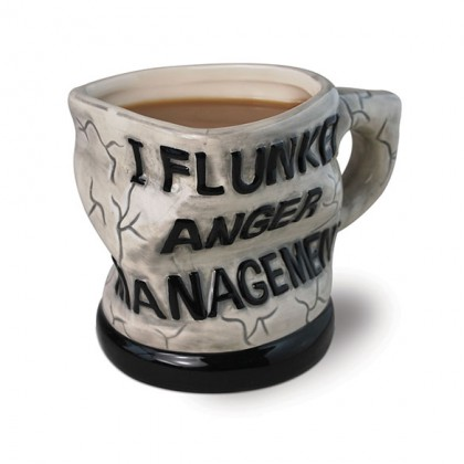 Funny Coffee Mug - I Flunked Anger Management Funny Office Coffee Mug