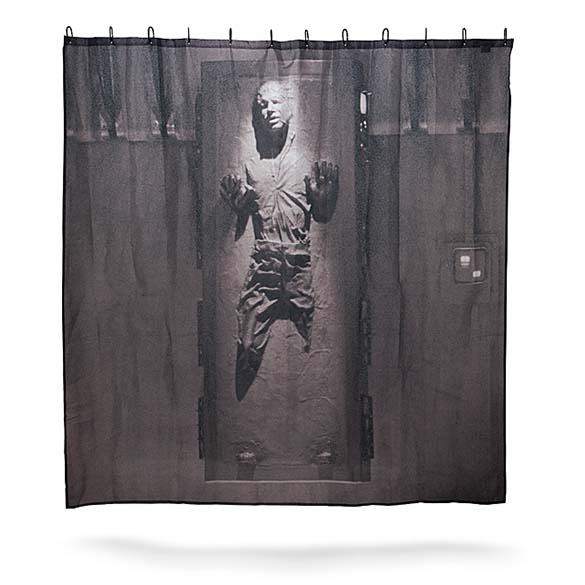 Han Solo Shower Curtain - Funny Han Solo Frozen In Carbonite Star Wars Shower Curtain