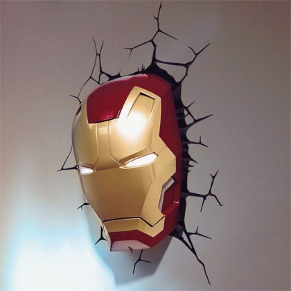 Iron Man Helmet Light Superhero Room Decor