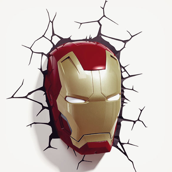 Iron Man Helmet Light - Superhero Room Decor