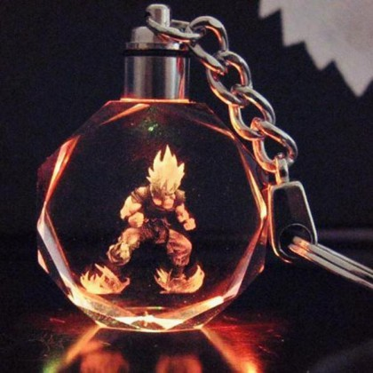 Dragon Ball Z Keychain w/ Light-Up LED Figure