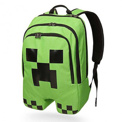 Minecraft Rucksack - Green Minecraft Creeper Backpack - Officially Licensed Minecraft Knapsack