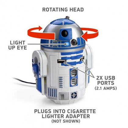 R2-D2 Car Charger - Officially Licensed Star Wars USB R2-D2 Car Charger