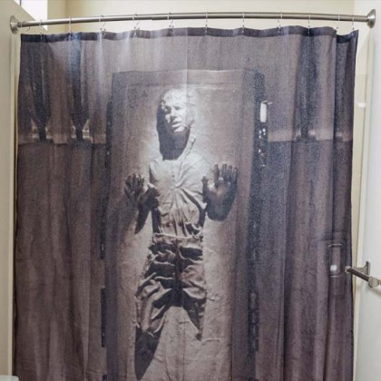 Star Wars Han Solo Shower Curtain - Funny Han Solo Frozen In Carbonite Star Wars Shower Curtains