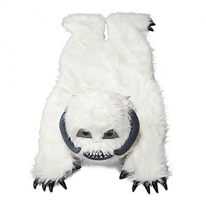 Star Wars Wampa Throw Rug - White Fur Star Wars Wampa Plush Throw Rug