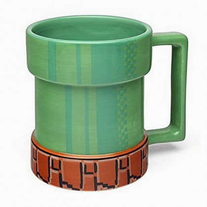 Super Mario Mug - Level-Up Pipe Super Mario Coffee Mug