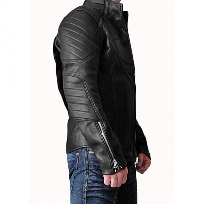 Superman Leather Jacket - Black Leather Superman Jacket