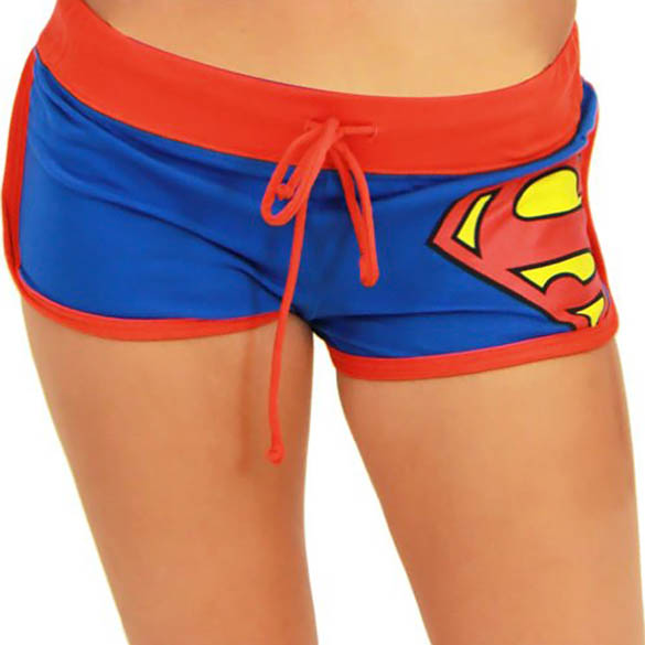 Superman Shorts - Sexy Blue Dc Comics Superman Shorts for Women